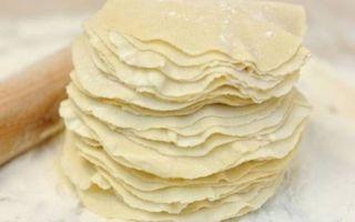 Тесто на манты – очень вкусный рецепт для мантов